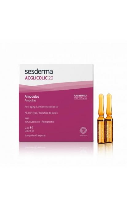 SESDERMA ACGLICOLIC 20 AMPULĖS, 5x2 ml