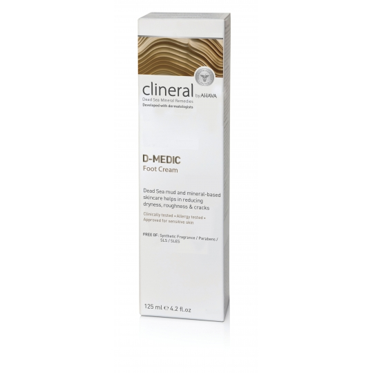 CLINERAL D-MEDIC PĖDŲ KREMAS, 125 ML