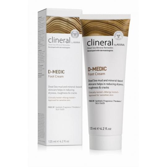 AHAVA CLINERAL D-MEDIC PĖDŲ KREMAS, 125 ML