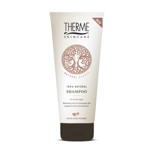 THERME NATURAL BEAUTY 100% NATŪRALUS ŠAMPŪNAS, 200 ml