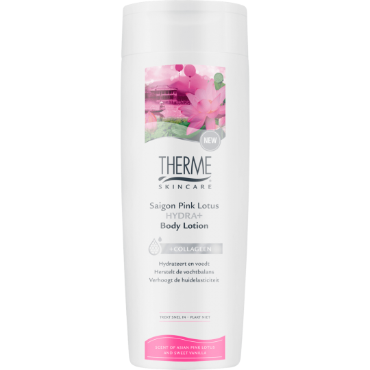 THERME SAIGON PINK LOTUS HYDRA+ KŪNO LOSJONAS, 250 ml