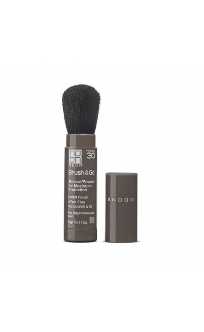 NOON BRUSH&GO MINERAL SUN PROTECTION POWDER SPF 30 (RIEBIAI/PROBLEMINEI ODAI), 5 gr